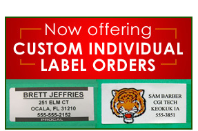 individual custom labels
